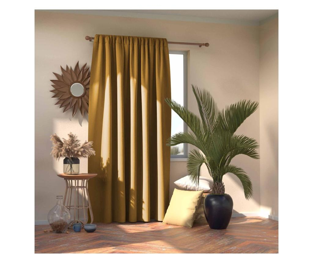 Draperie Blackout Mustard 140x245 cm imagine