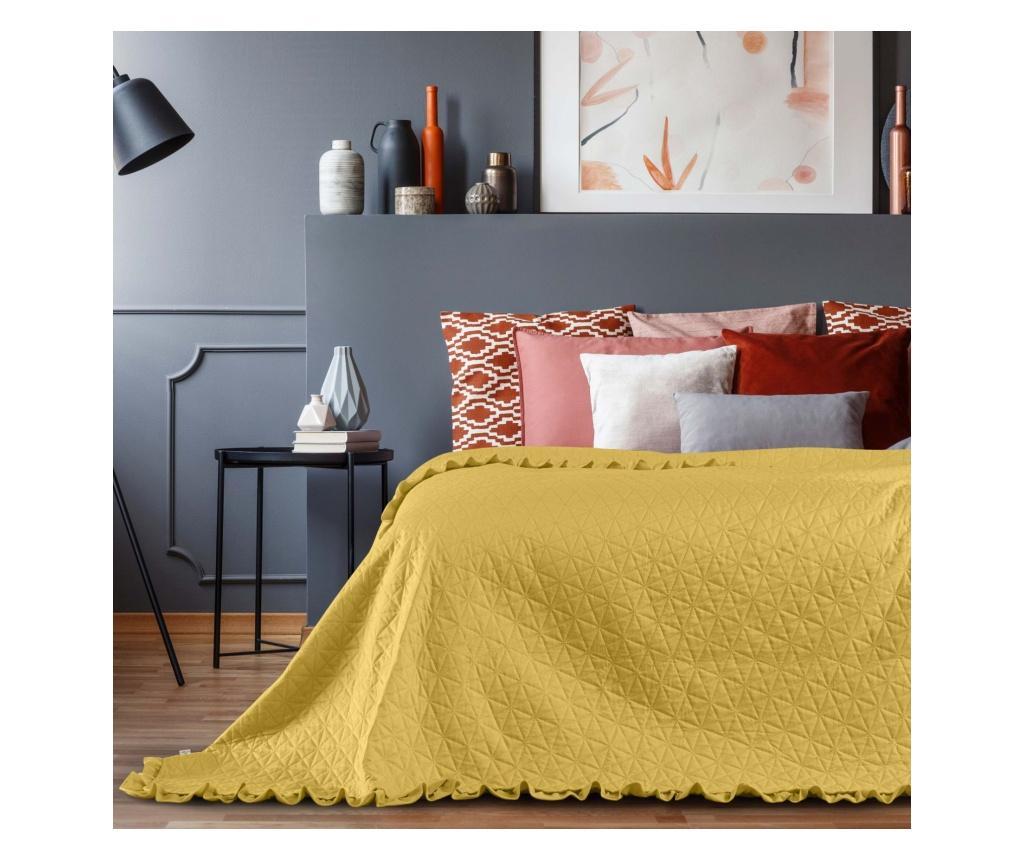 Cuvertura matlasata Tilia Honey 260x280 cm - AmeliaHome, Galben & Auriu imagine