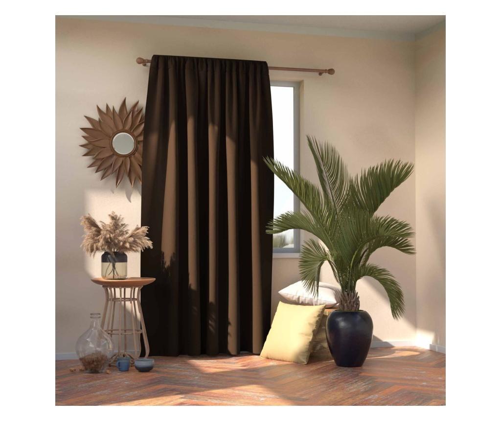 Draperie Blackout Dark Brown 140x245 cm imagine