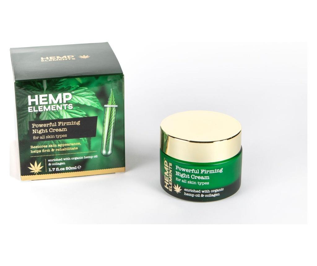 Crema de noapte Hemp Elements Powerful Firming 50 ml - HEMP ROSE poza