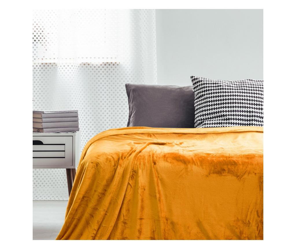Patura Mic Orange 220x240 cm - DecoKing, Portocaliu imagine
