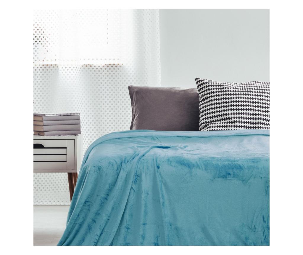 Patura Mic Turquoise 220x240 cm - DecoKing, Albastru imagine