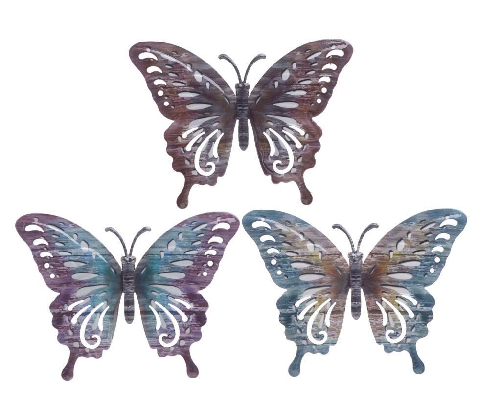 Set 3 decoratiuni de perete - inart, Multicolor poza