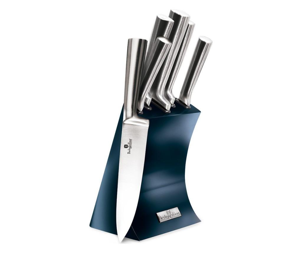 Set 6 cutite cu suport Metallic Line Aquamarine imagine