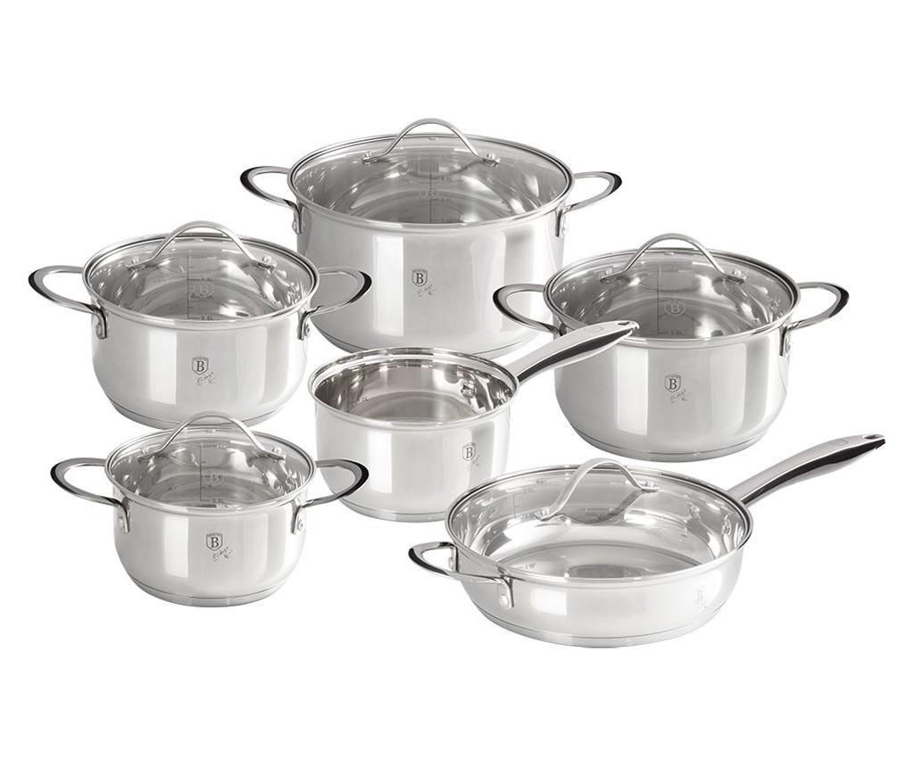 Set vase pentru gatit 12 piese Silver Jewelry imagine