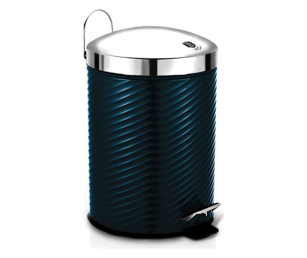Cos de gunoi cu pedala si capac Metallic Line Aquamarine imagine