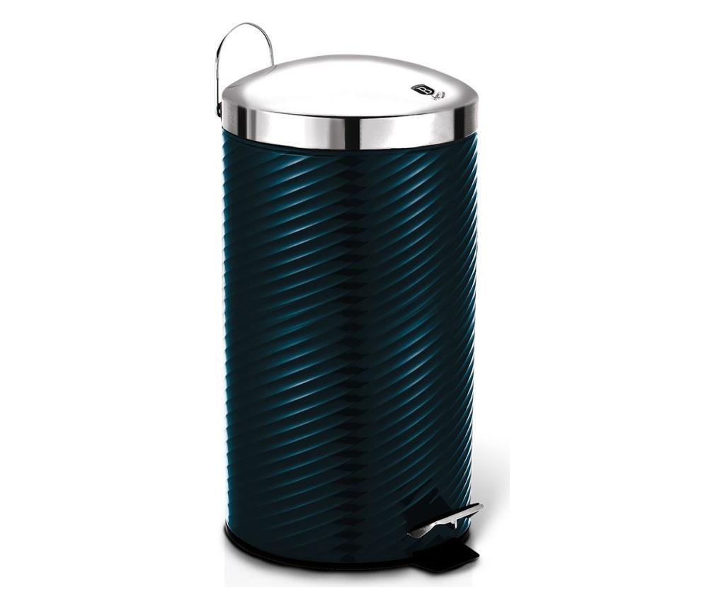 Cos de gunoi cu pedala si capac Metallic Line Aquamarine - Berlinger Haus, Albastru imagine