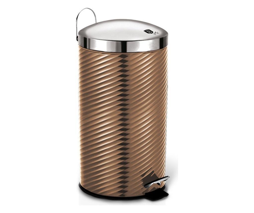Cos de gunoi cu pedala si capac Metallic Line- Rose Gold imagine