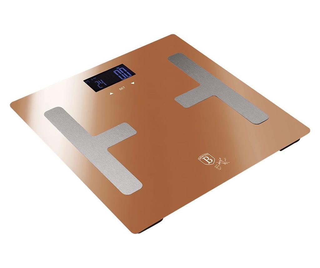 Cantar de baie pentru masurarea grasimii corporale Metallic Line- Rose Gold imagine