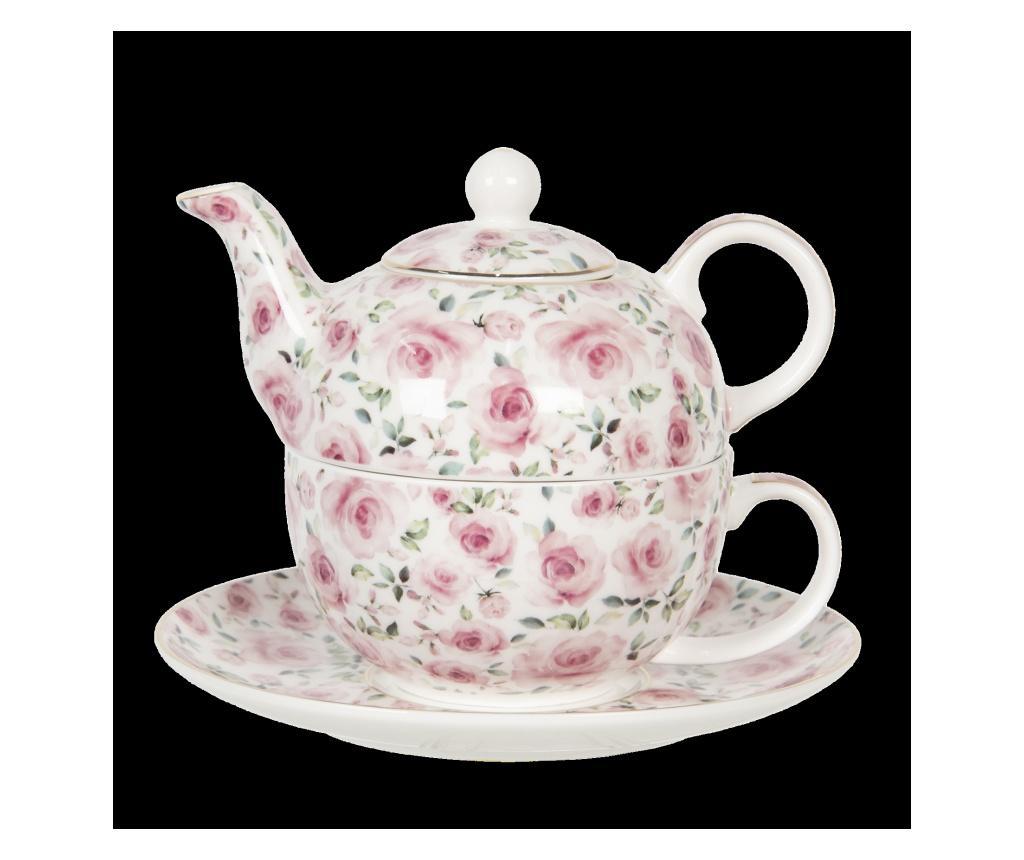 Set ceainic cu ceasca si farfurioara imagine