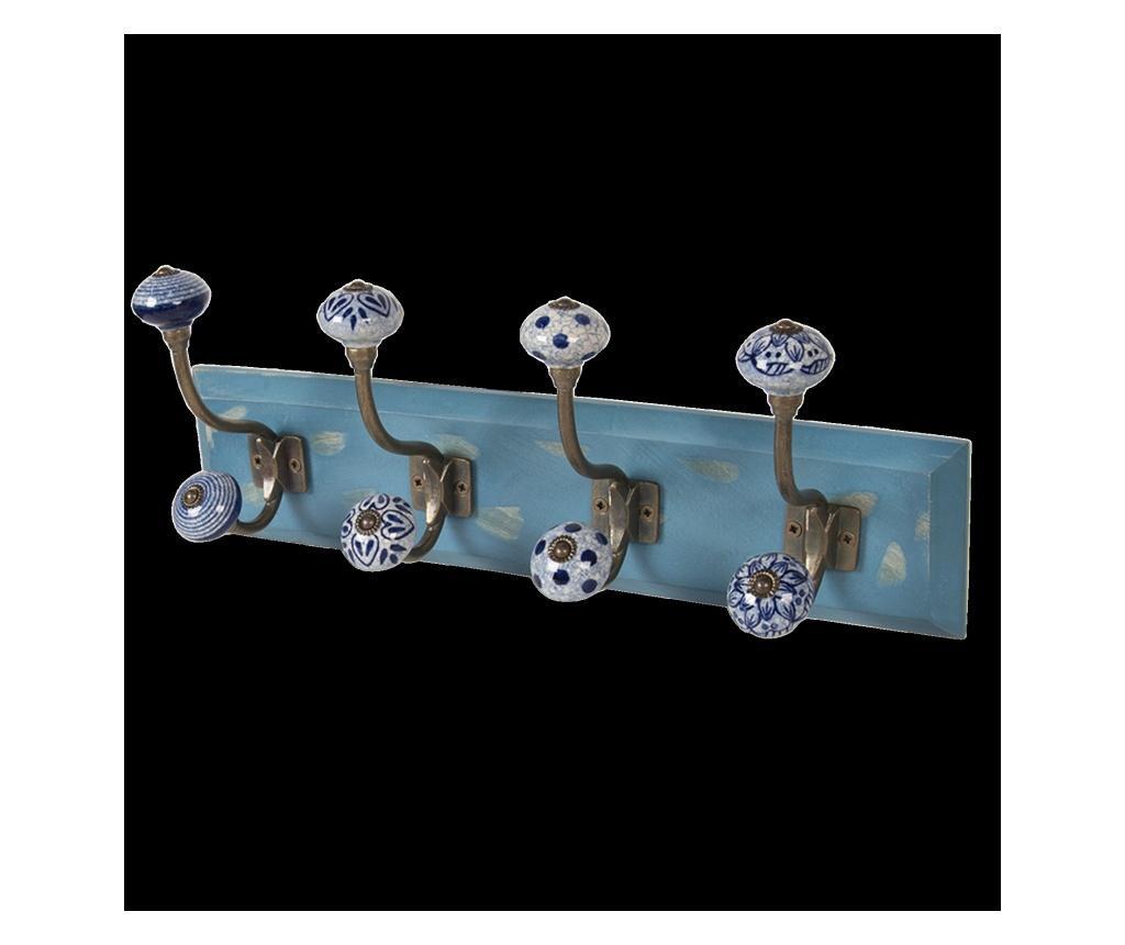 Cuier de perete - Clayre & Eef, Albastru imagine vivre.ro