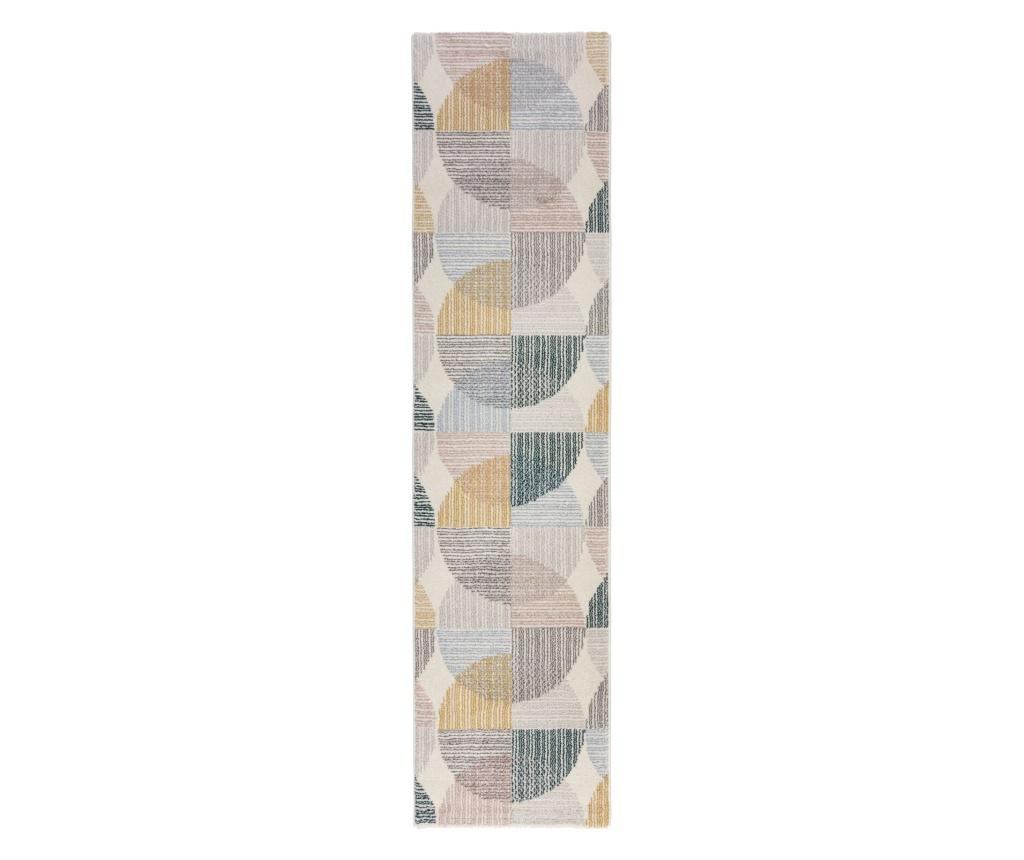 Covor Centro Circles 60x230 cm - Flair Rugs, Verde imagine