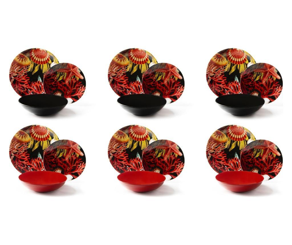Set de masa 18 piese Nautilus - Excelsa, Multicolor imagine
