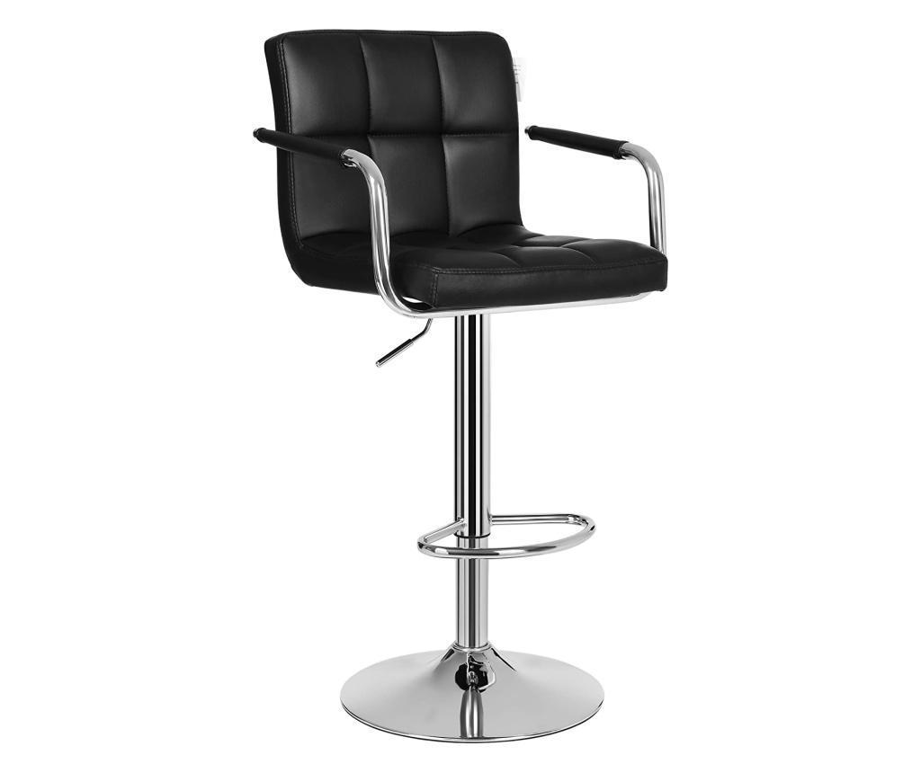 Set 2 scaune de bar - SONGMICS, Negru imagine