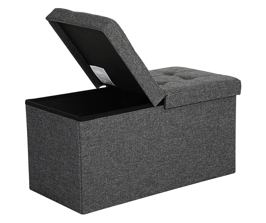 Bancheta cu spatiu pentru depozitare - SONGMICS, Gri & Argintiu