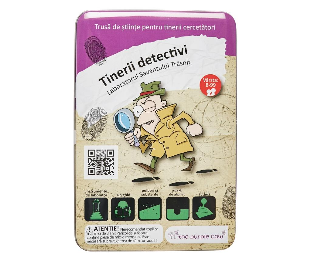 Joc The Crazy Scientist - Lab & Activity Cards Lab Young Detectives - MOMKI, Multicolor