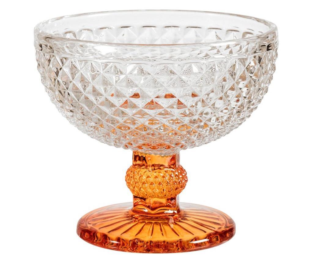Set 6 cupe pentru inghetata - H&H, Alb