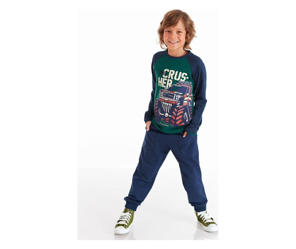 Set bluza si pantaloni Monster Car 4 years - Mushi, Multicolor vivre.ro
