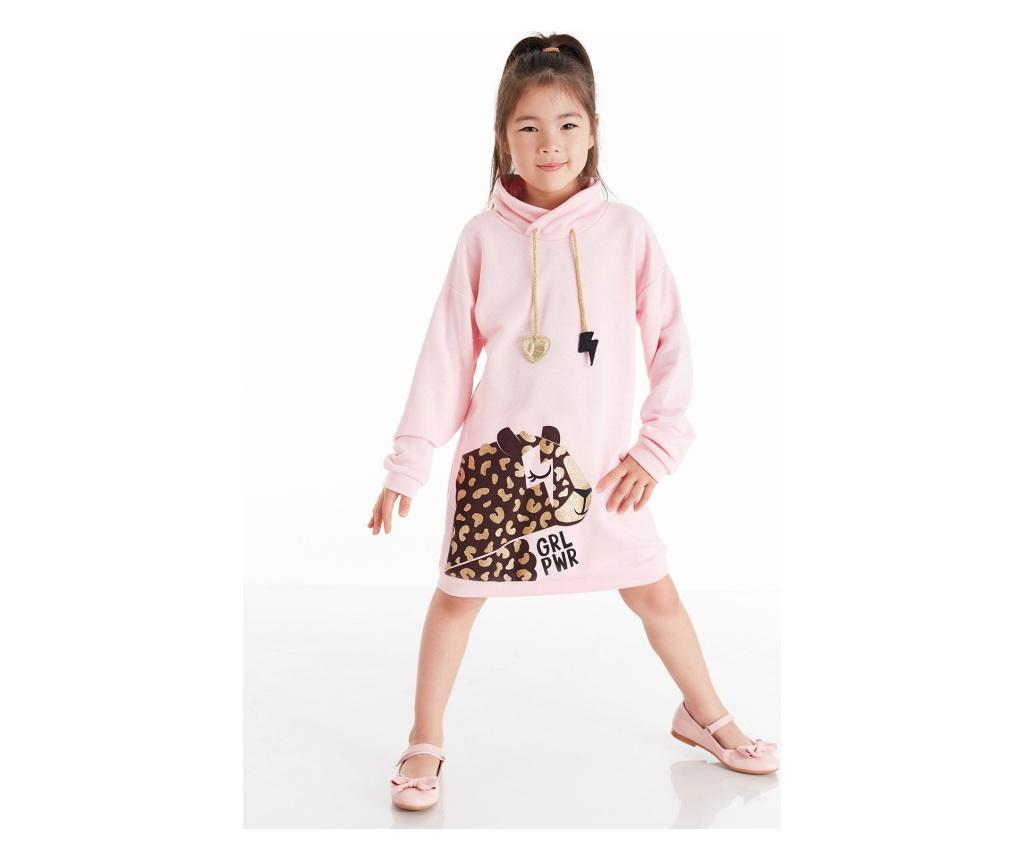 Rochie Leo Power Pink 7 years - Mushi, Multicolor