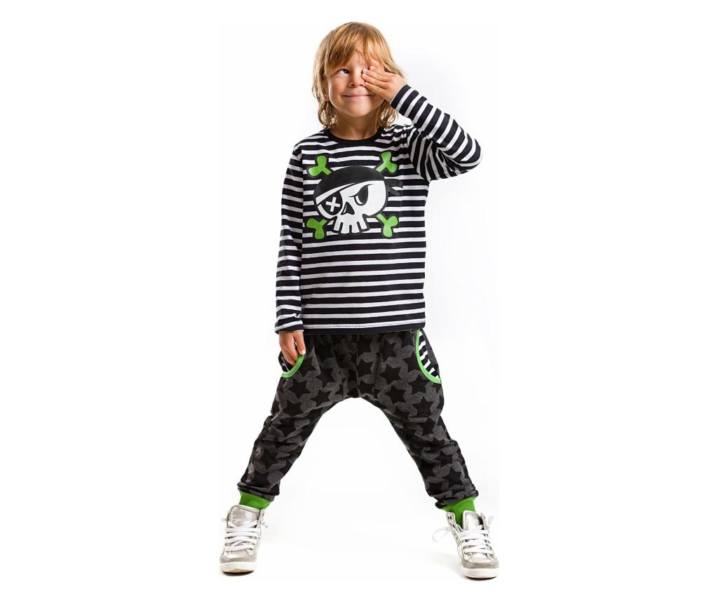 Set bluza si pantaloni Baggy Pirate Skull 7 years - Mushi poza