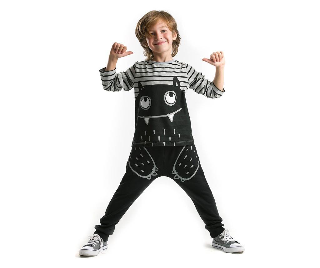 Set bluza si pantaloni Real Monsters 3 years - Denokids, Multicolor poza