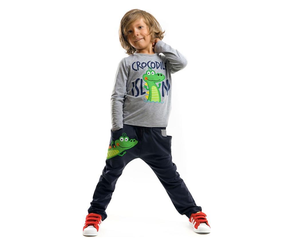 Set bluza si pantaloni Baggy Croc Island 8 years - Denokids poza