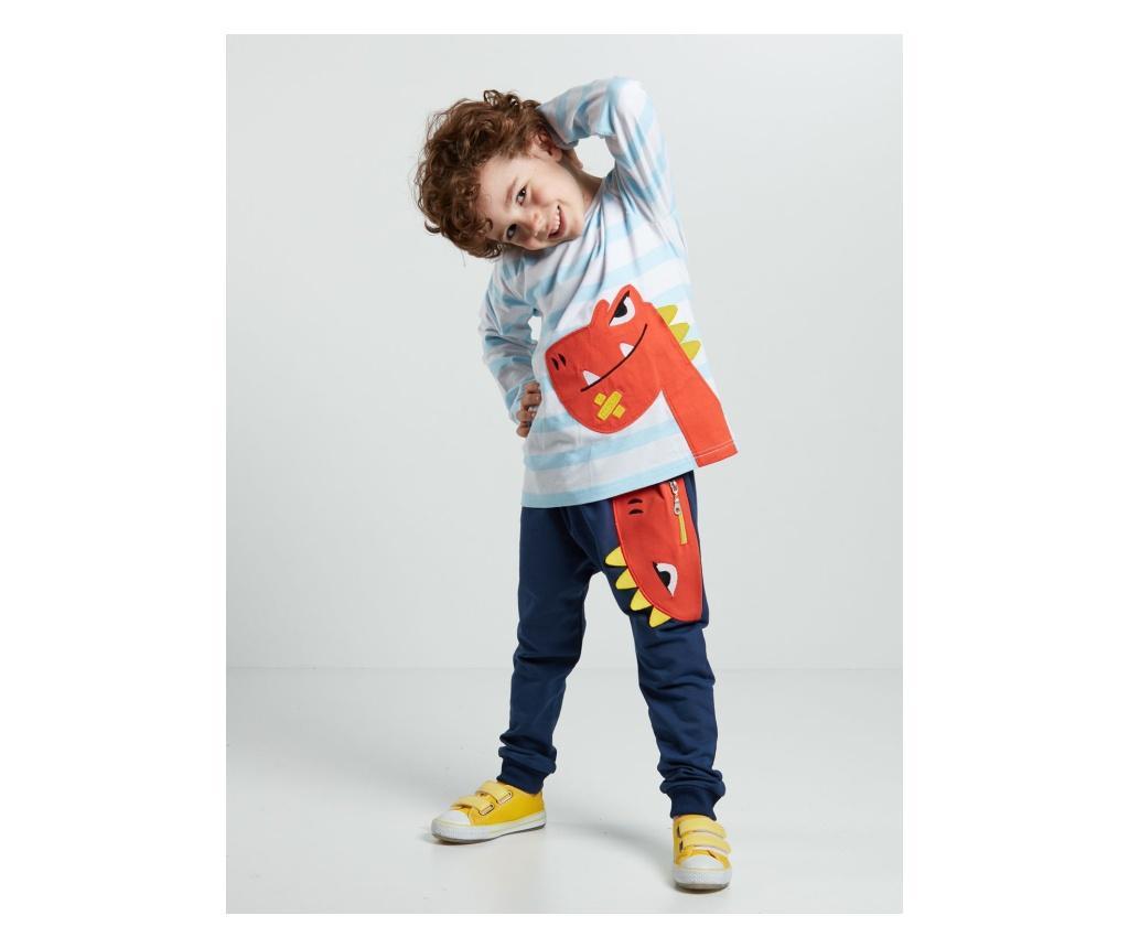 Set bluza si pantaloni Orange Dino 4 years - Denokids poza