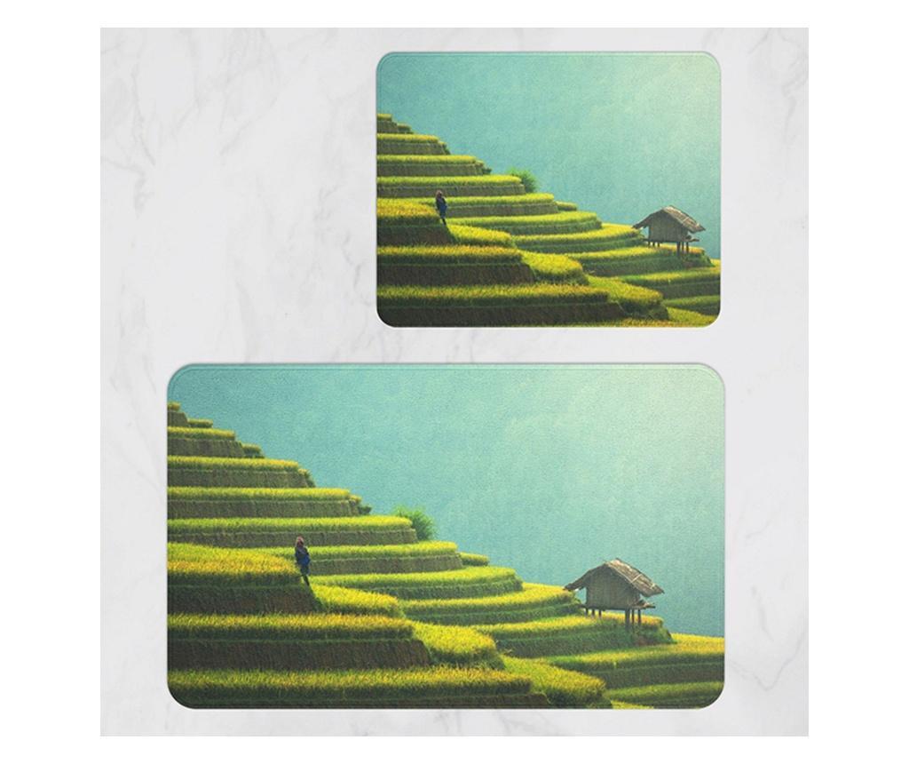 Set 2 covorase de baie - Oyo Concept, Multicolor vivre.ro