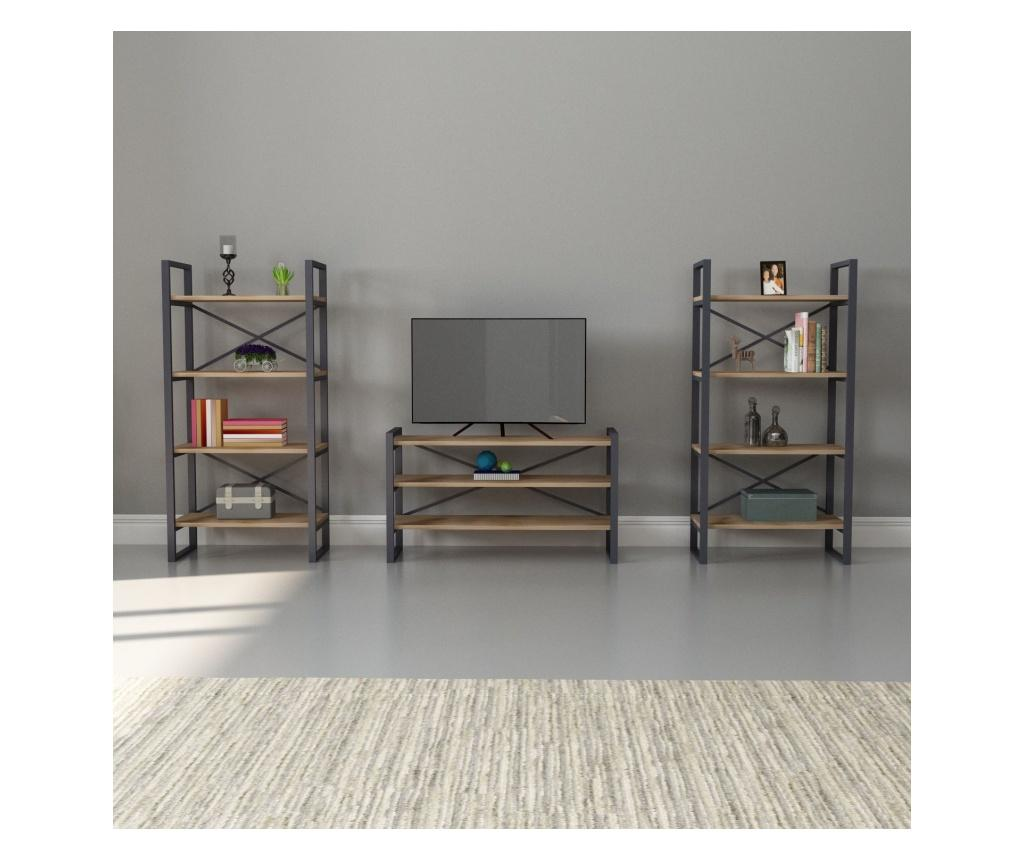 Set 2 piese de mobilier Nova - Drama Dizayn, Maro