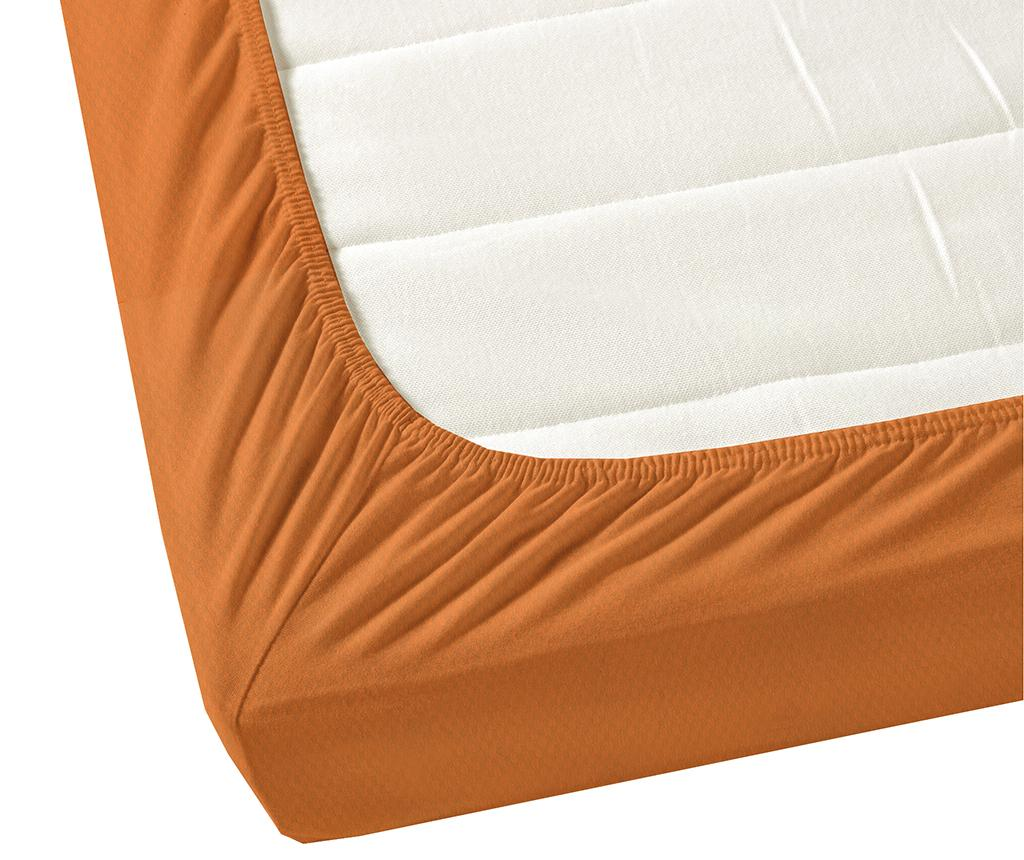 Cearsaf de pat cu elastic Satin Elastic Orange 200x200 cm