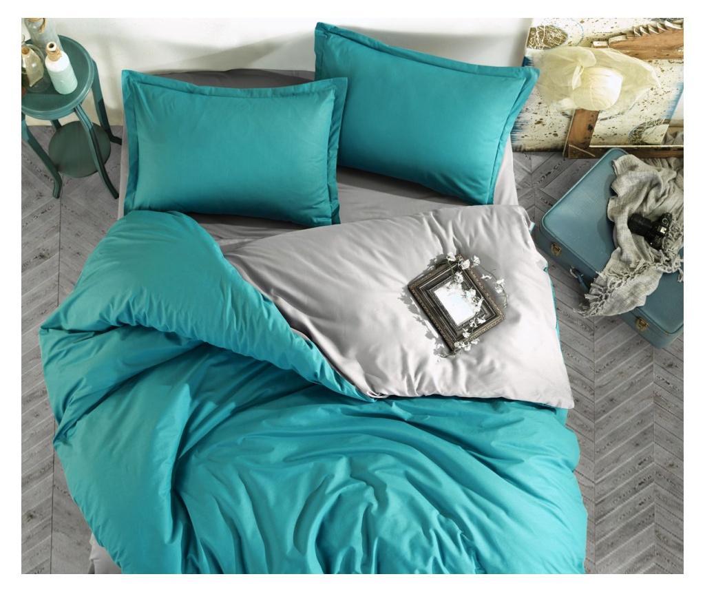 Lenjerie de pat Double Ranforce Prestige Turquoise imagine