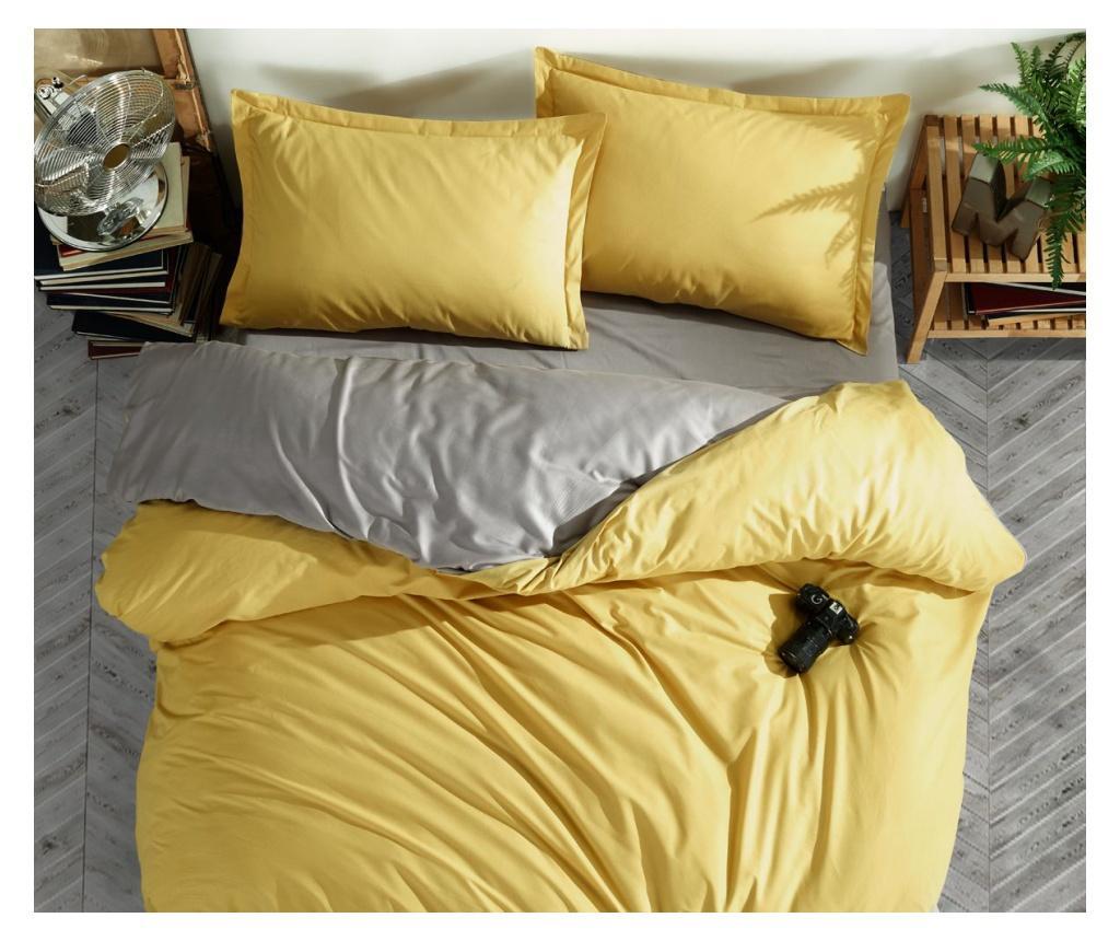 Set de pat Double Ranforce Prestige Yellow imagine