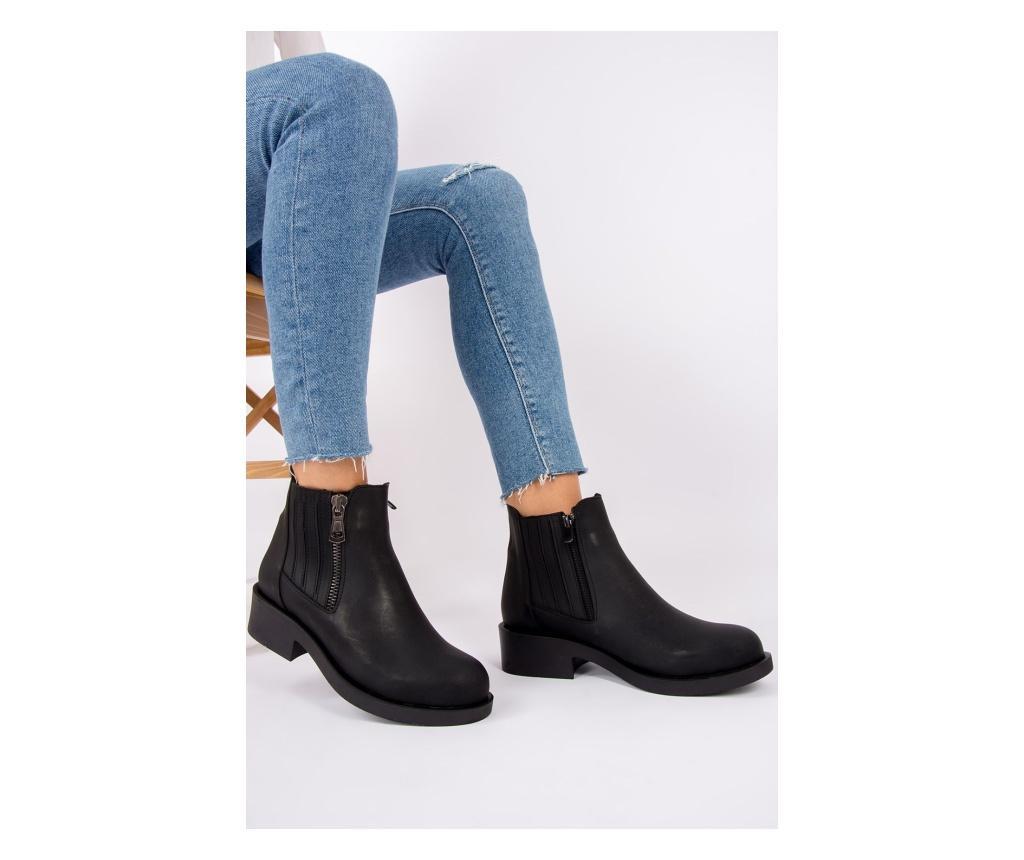 Ghete dama 39 - Fox Shoes, Negru poza