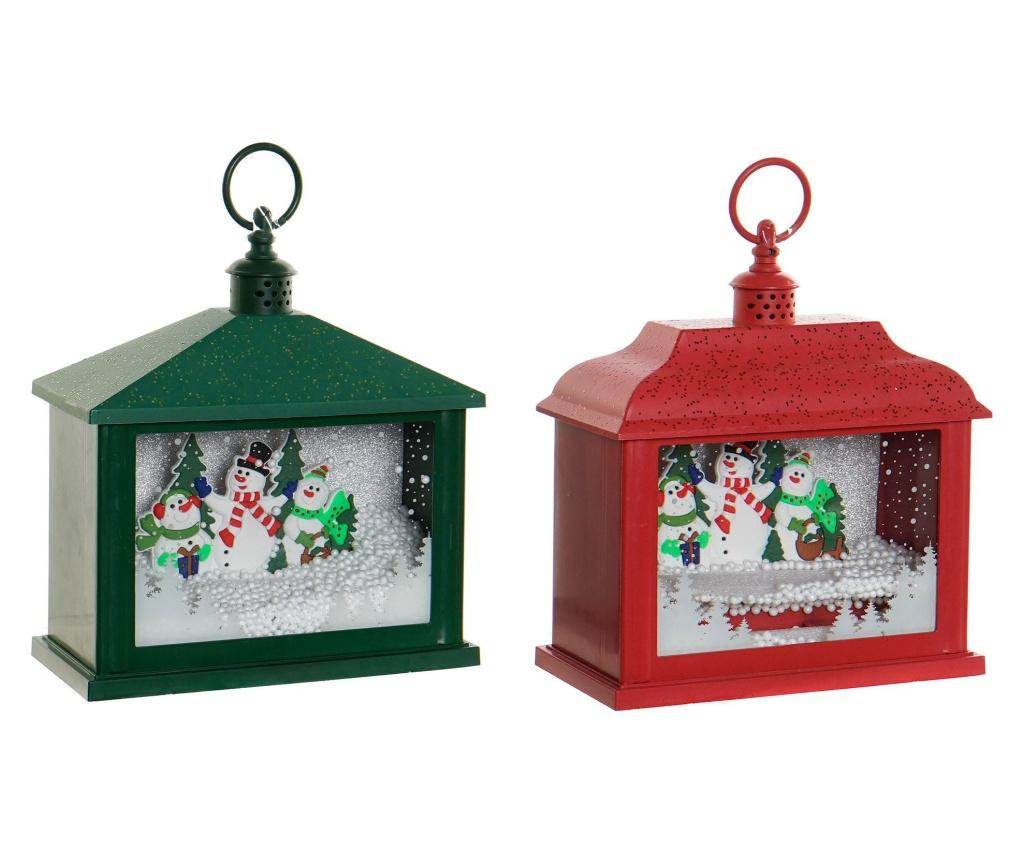 Set 2 felinare cu LED Christmas Traditional imagine