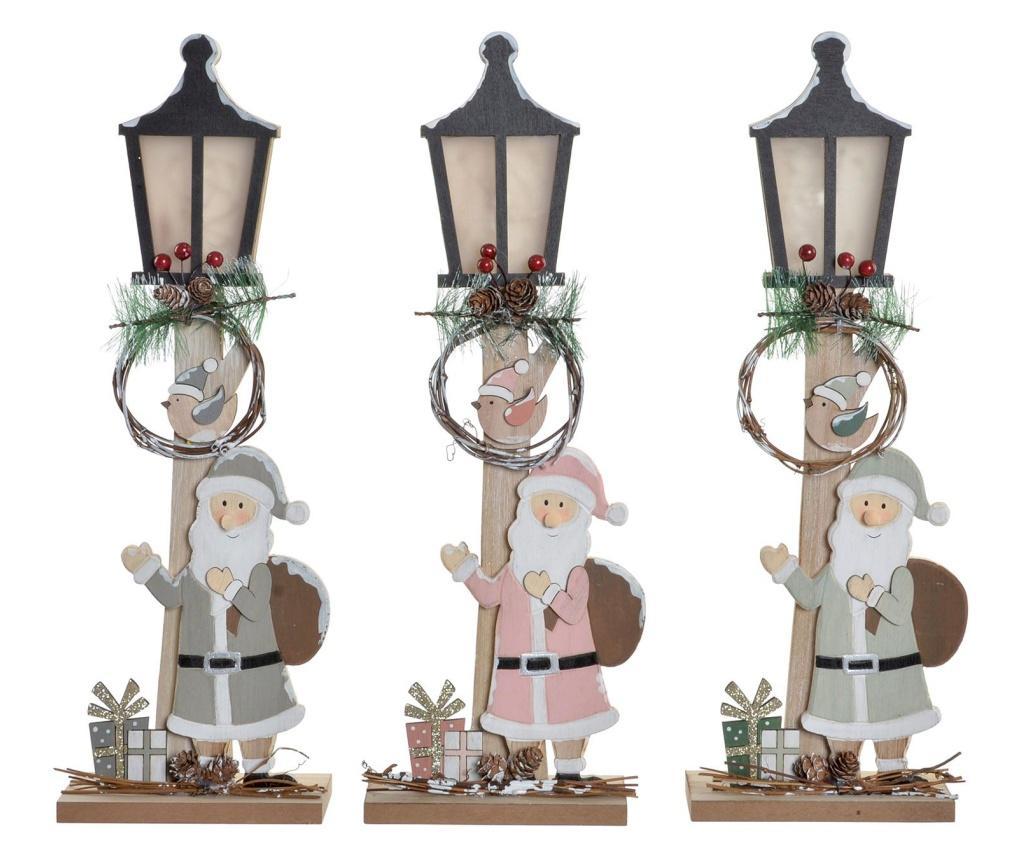 Set 3 felinare cu LED Christmas Fantasy imagine