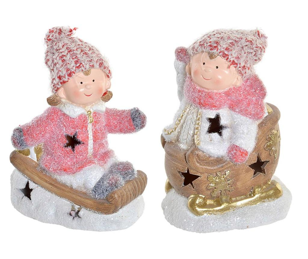 Set 2 decoratiuni luminoase Christmas Traditional imagine