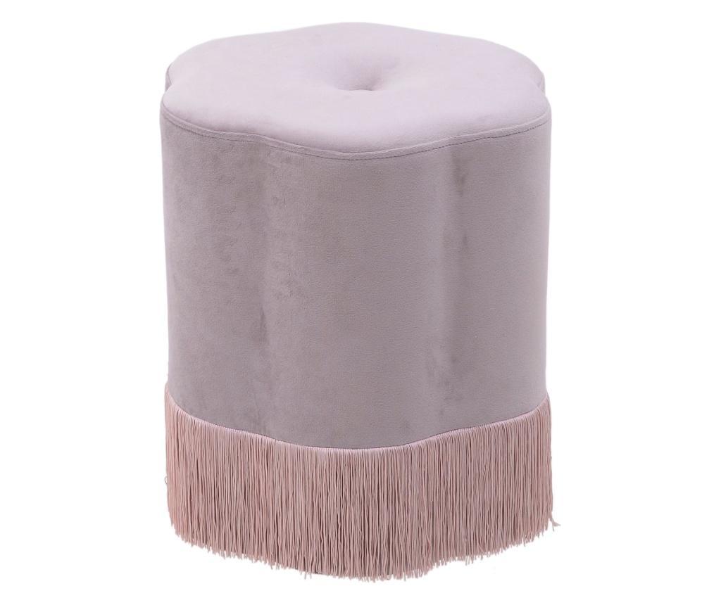 Taburet Velvet Pink - inart, Roz imagine