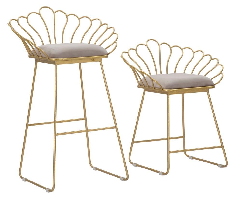 Set 2 scaune de bar - Mauro Ferretti, Galben & Auriu
