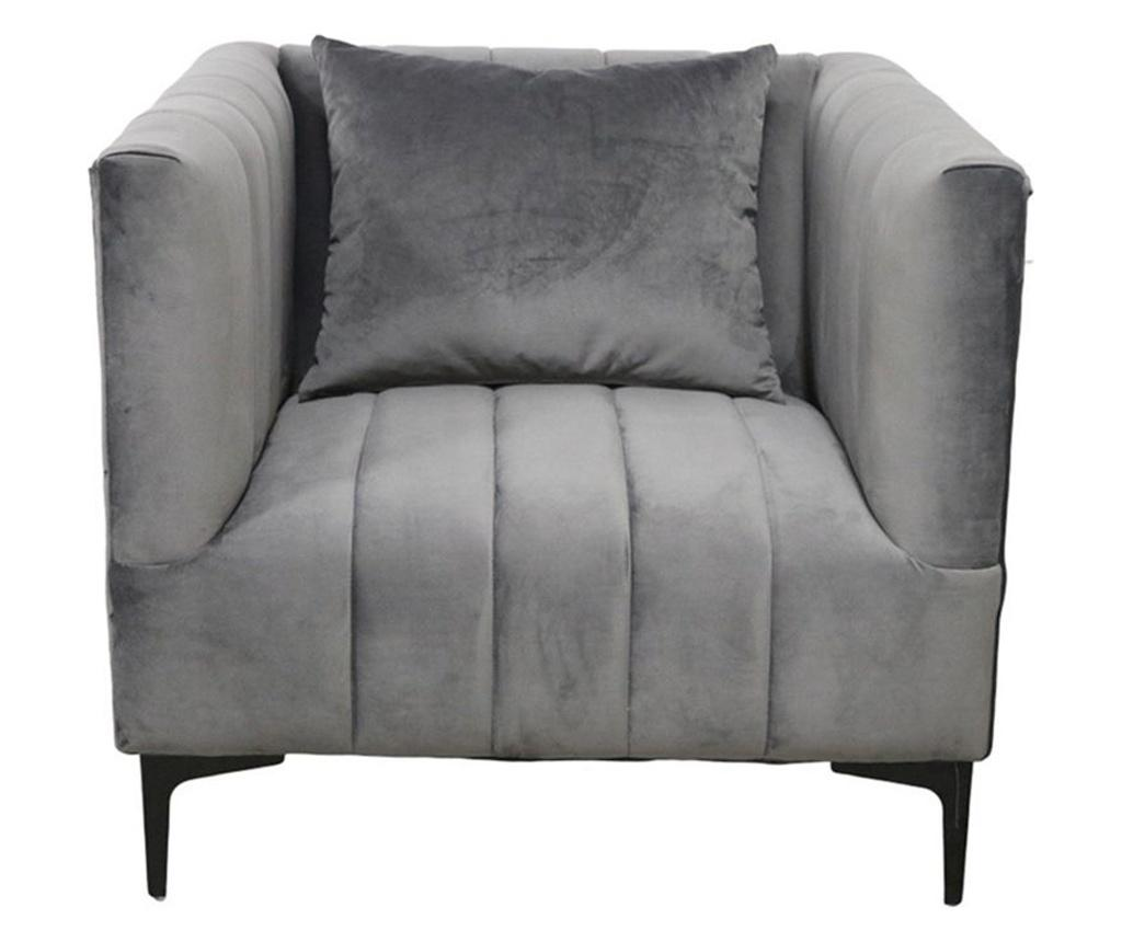 Fotoliu Grey Velvet Confort - Socadis imagine