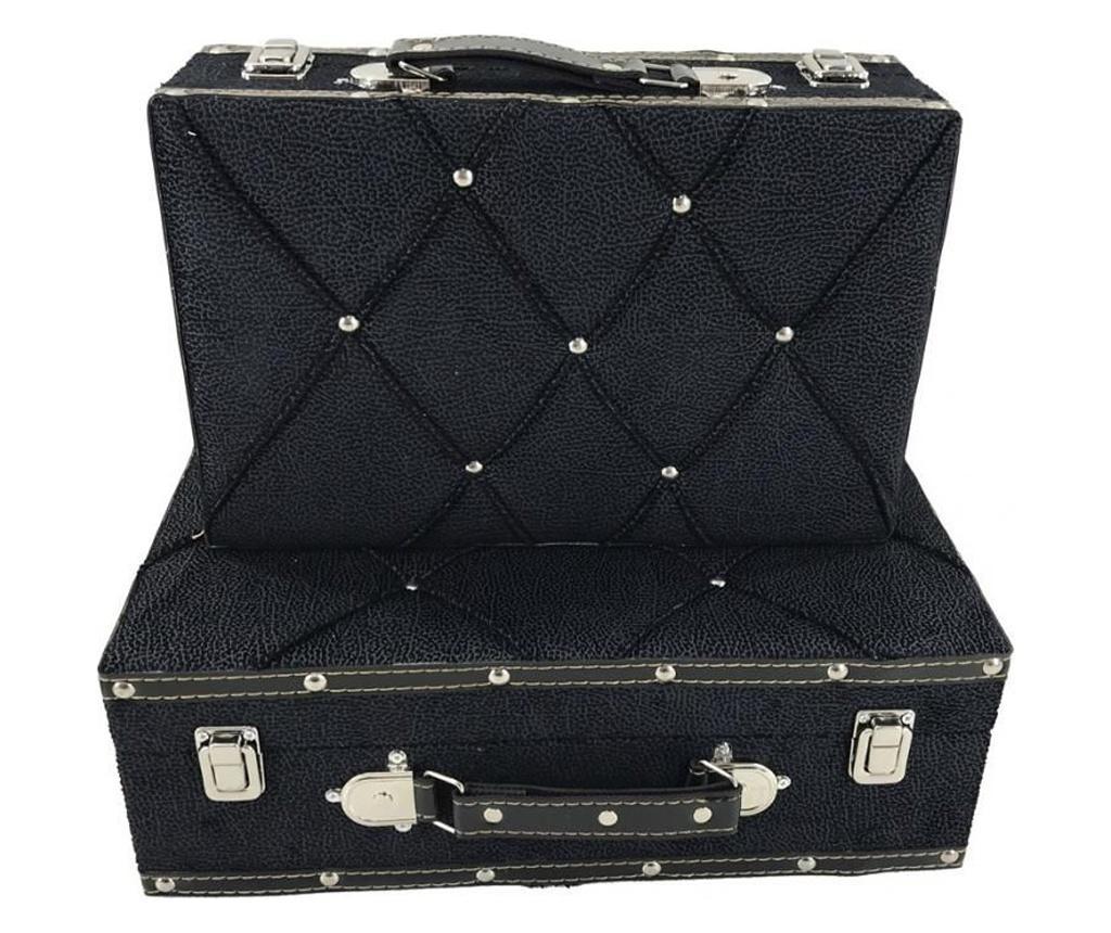 Set 2 cutii decorative - Fedor, Negru