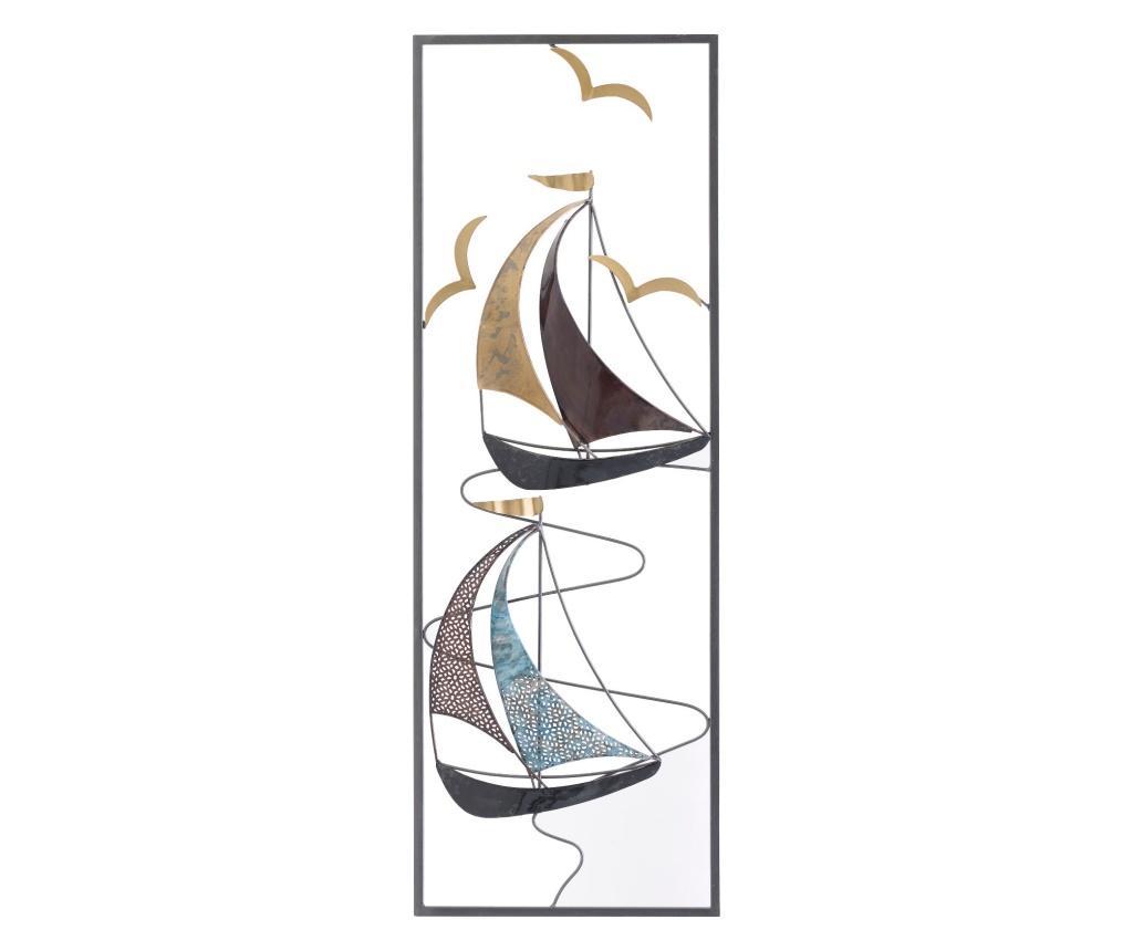 Decoratiune de perete Boat - inart, Negru imagine