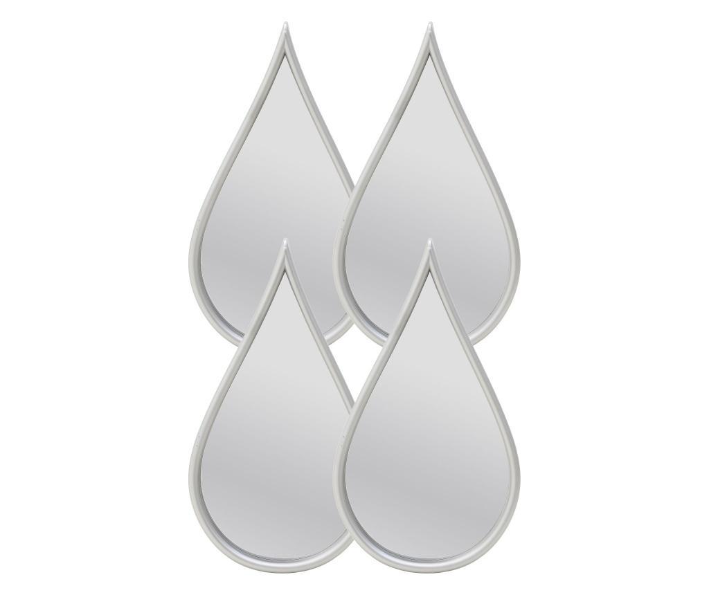 Oglinda de perete - Click, Gri & Argintiu imagine