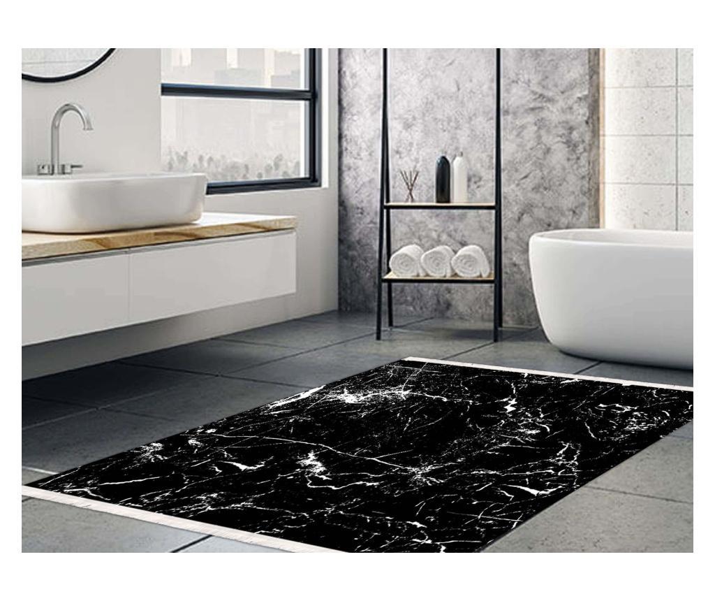 Covoras de baie Amor Black 80x100 cm - Nordeca, Negru imagine