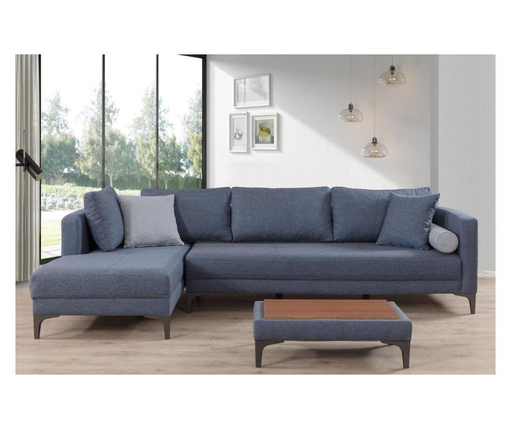 Set coltar si masa Moderny - Gauge Concept, Albastru vivre.ro