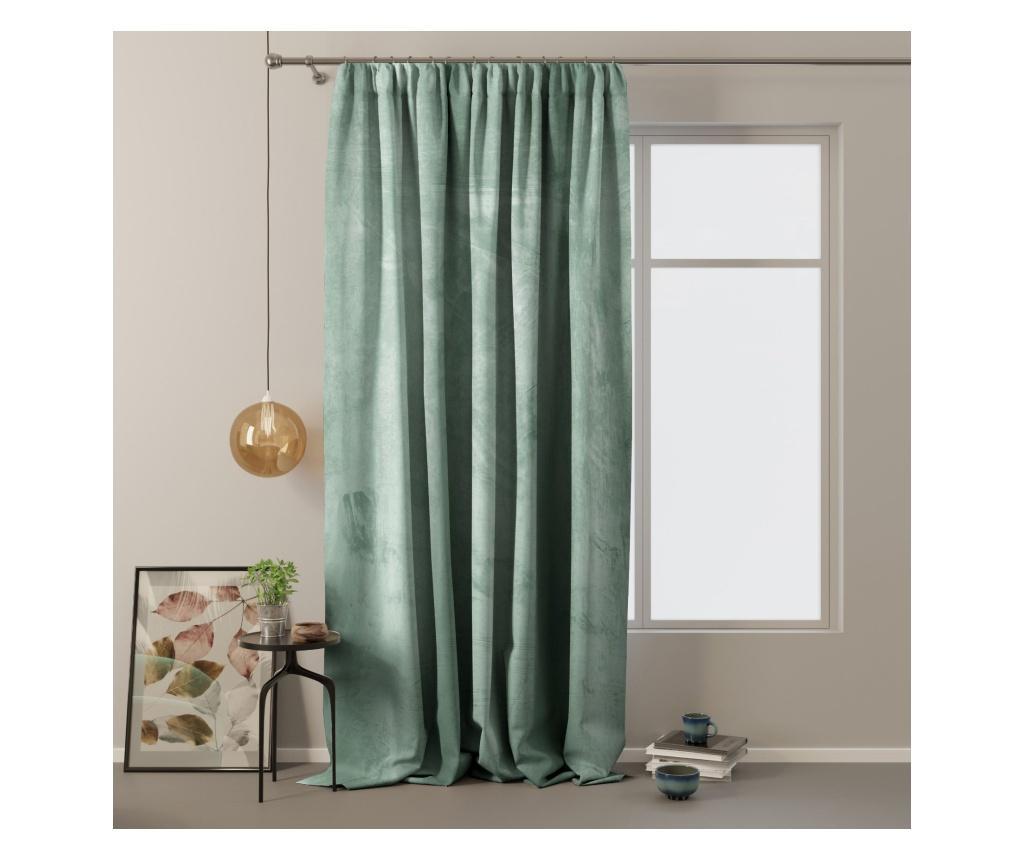 Draperie Velvet on pleat 140x270 cm - Amelia Home, Verde imagine