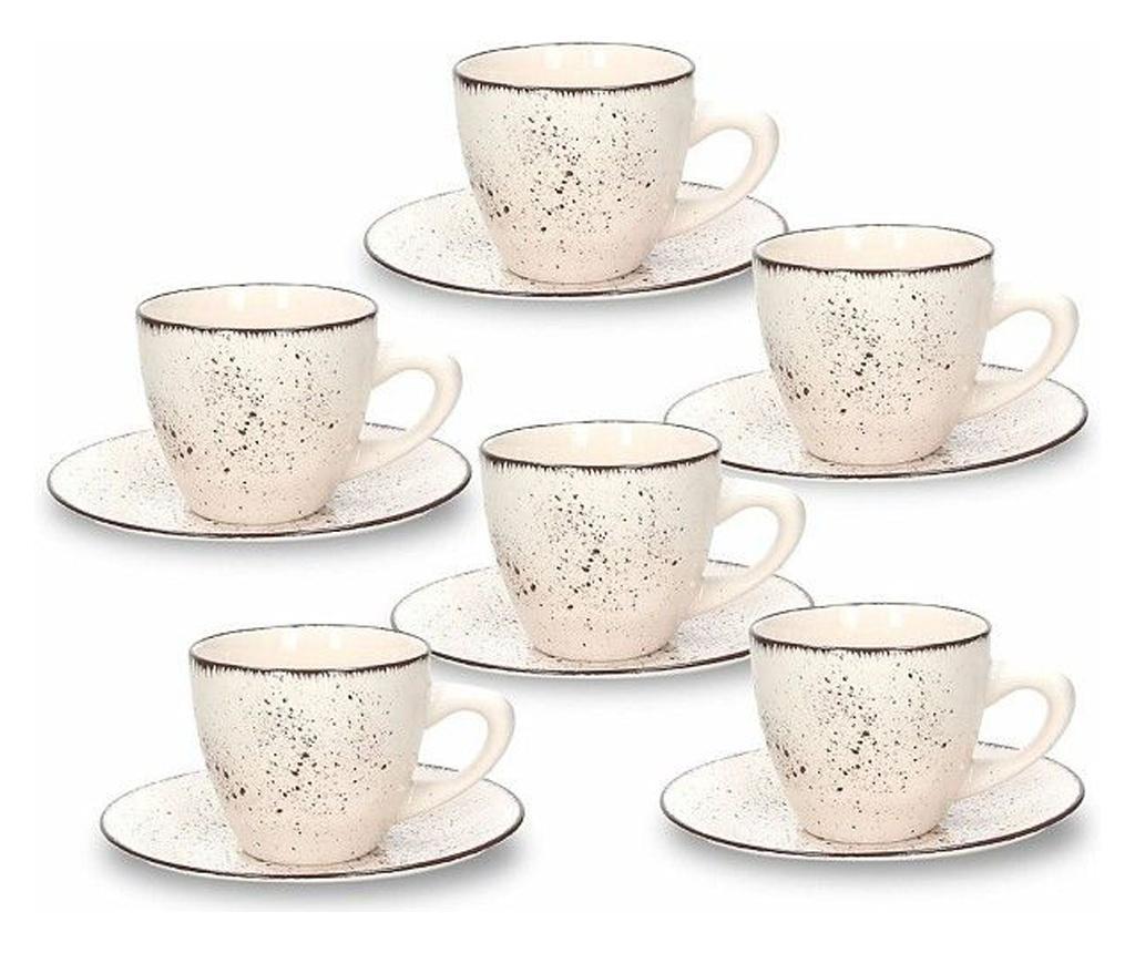 Set 6 cesti si 6 farfurioare pentru ceai Louise Stay 200 ml imagine