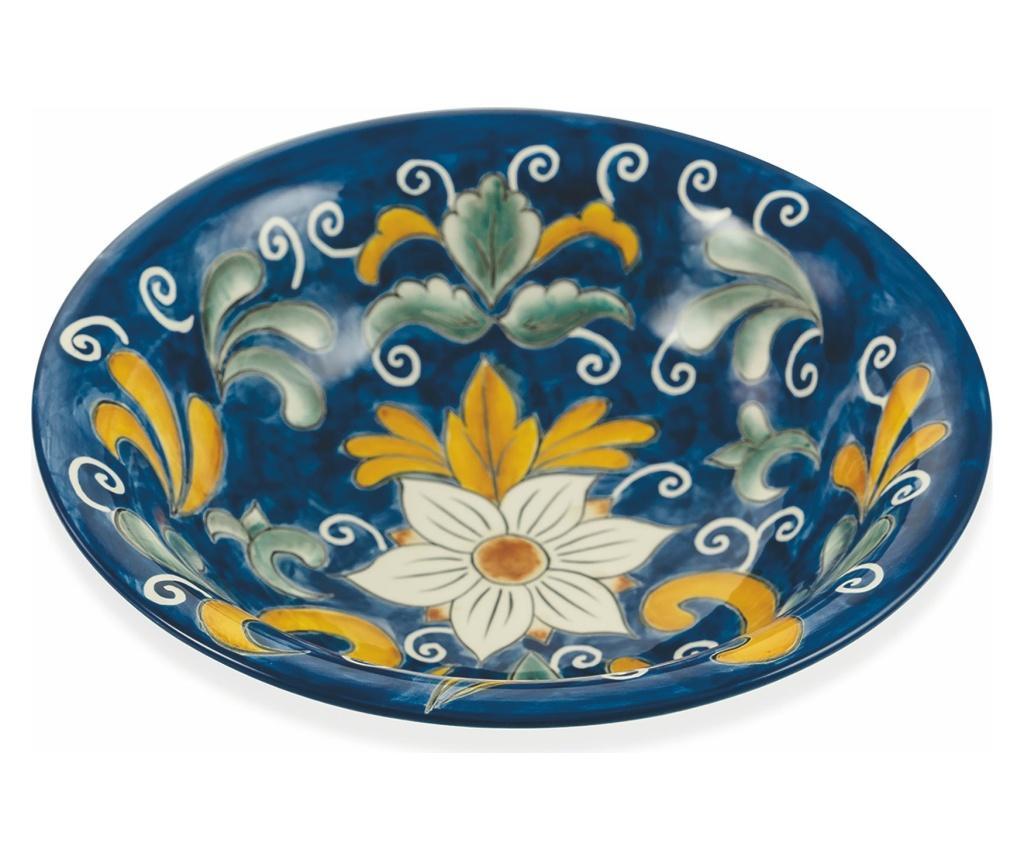 Bol pentru salata Sicilia Blu - Villa D'Este, Albastru imagine
