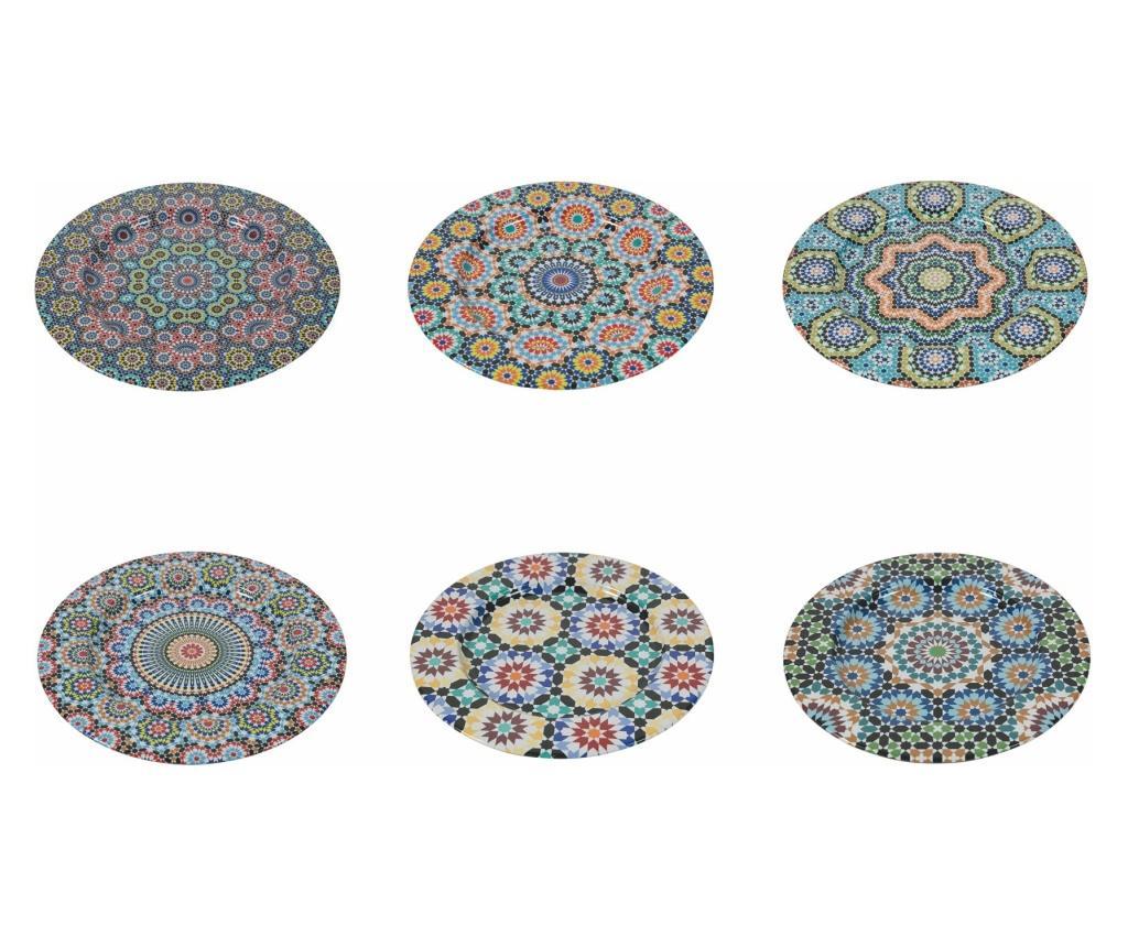 Set 6 platouri Marrakech - Villa D'Este, Multicolor poza