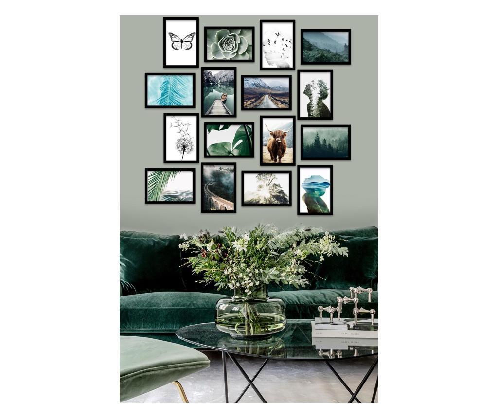 Set 16 tablouri 15x20 cm - Kate Louise, Multicolor imagine