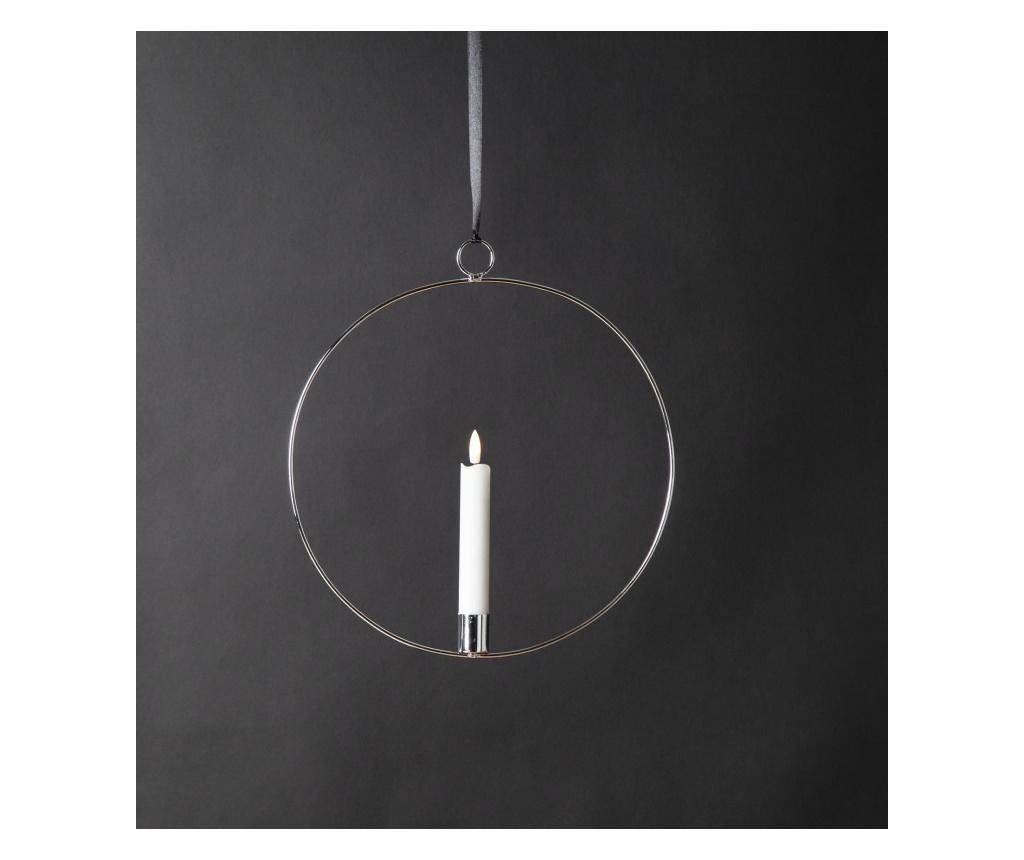 Lumanare suspendabila cu LED Flamme Ring - Best Season, Gri & Argintiu poza